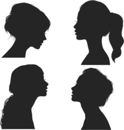 Beautiful girl silhouettes file cdr and dxf free vector download for Laser cut Plasma
