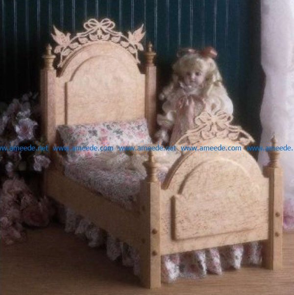 Bed doll file pdf free vector download for Laser cut CNC