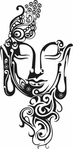 Buddha face file cdr and dxf free vector download for laser engraving machines