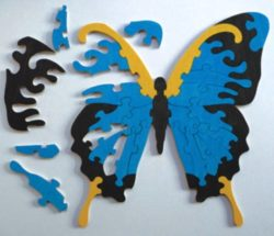Butterfly Puzzle file cdr and dxf free vector download for Laser cut