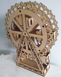 Cacke ferris Wheel file cdr and dxf free vector download for Laser cut