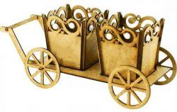 Cart with pots file cdr and dxf free vector download for Laser cut