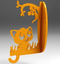 Cat and mouse shelves file cdr and dxf free vector download for Laser cut