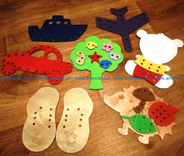 Children toy file cdr and dxf free vector download for Laser cut