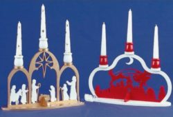 Christmas and Santa candle holders file cdr and dxf free vector download for Laser cut