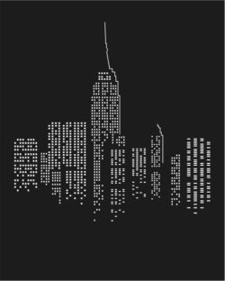City at night file cdr and dxf free vector download for print or laser engraving machines