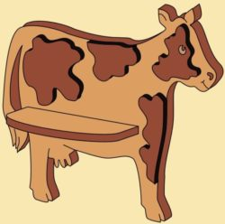 Cow Shelf file cdr and dxf free vector download for Laser cut CNC