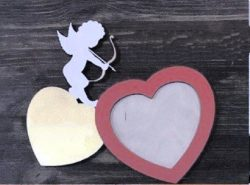 Cupid photo frame file cdr and dxf free vector download for Laser cut
