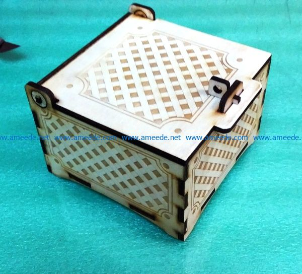 Cute box file cdr and dxf free vector download for Laser cut