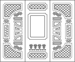 Design pattern door E0007848 file cdr and dxf free vector download for Laser cut CNC