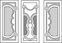 Design pattern door E0007849 file cdr and dxf free vector download for Laser cut CNC