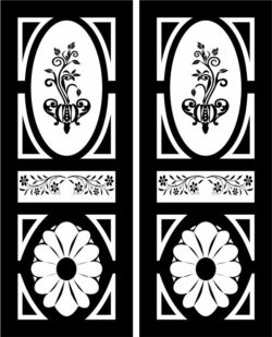 Design pattern door E0007995 file cdr and dxf free vector download for Laser cut CNC