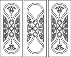 Design pattern door E0007996 file cdr and dxf free vector download for Laser cut CNC