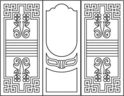 Design pattern door E0007997 file cdr and dxf free vector download for Laser cut CNC
