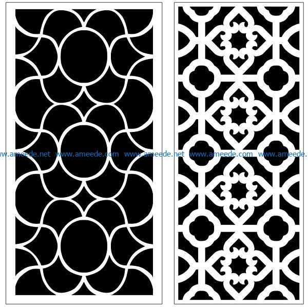 Design pattern panel screen AN00070851 file cdr and dxf free vector download for Laser cut CNC