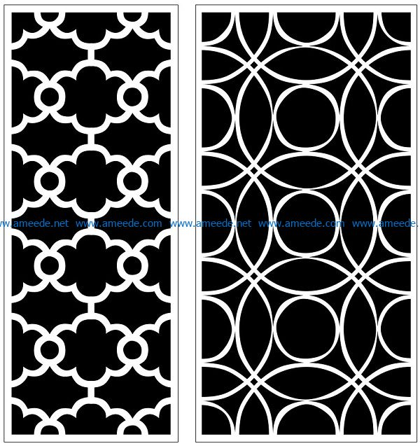 Design pattern panel screen AN00070852 file cdr and dxf free vector download for Laser cut CNC
