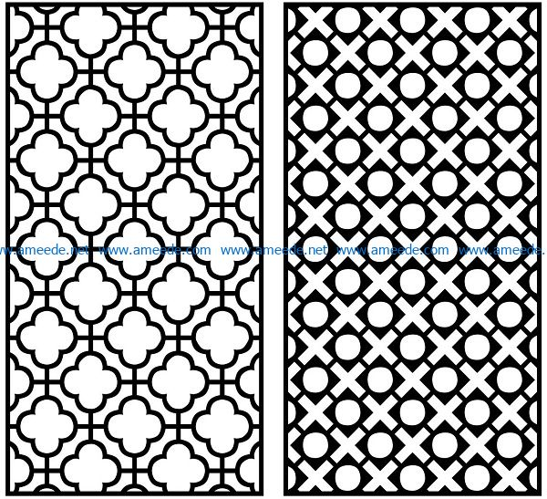 Design pattern panel screen AN00070855 file cdr and dxf free vector download for Laser cut CNC