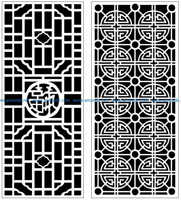 Design pattern panel screen AN00070856 file cdr and dxf free vector download for Laser cut CNC