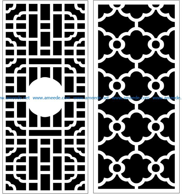 Design pattern panel screen AN00070857 file cdr and dxf free vector download for Laser cut CNC
