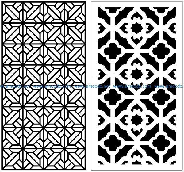 Design pattern panel screen AN00070858 file cdr and dxf free vector download for Laser cut CNC