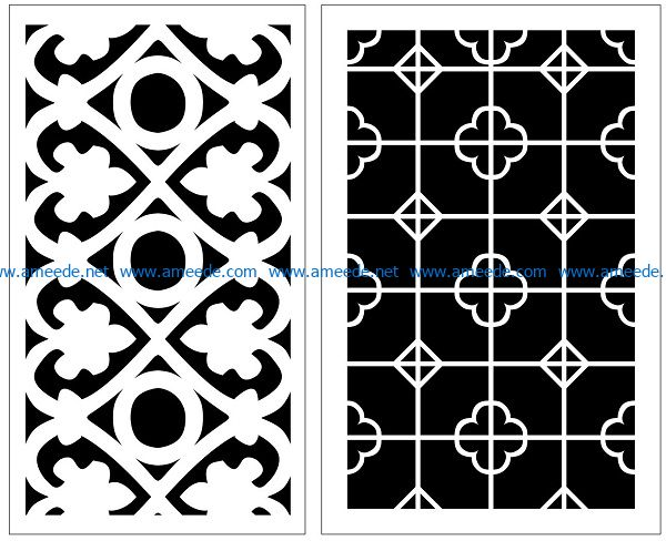 Design pattern panel screen AN00070859 file cdr and dxf free vector download for Laser cut CNC