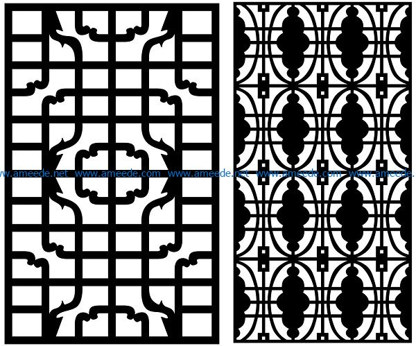 Design pattern panel screen AN00070861 file cdr and dxf free vector download for Laser cut CNC