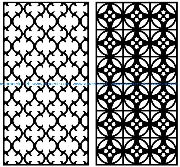Design pattern panel screen AN00070862 file cdr and dxf free vector download for Laser cut CNC
