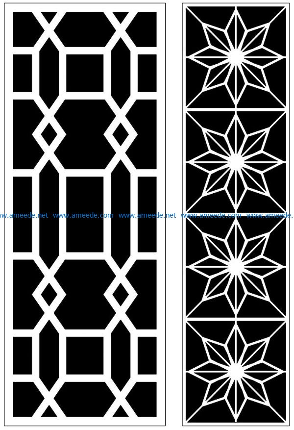 Design pattern panel screen AN00070863 file cdr and dxf free vector download for Laser cut CNC