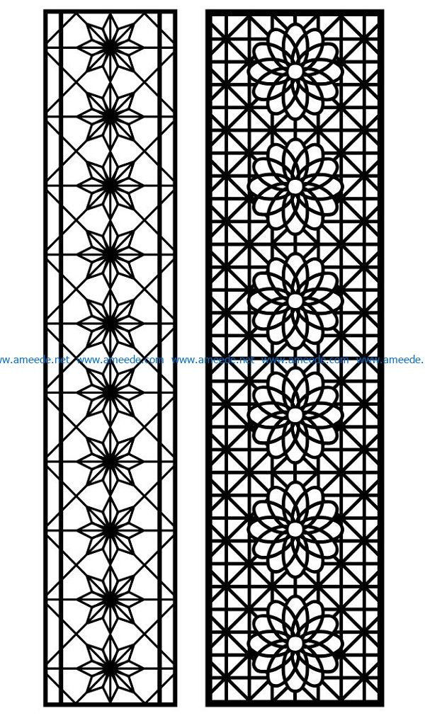 Design pattern panel screen AN00070864 file cdr and dxf free vector download for Laser cut CNC