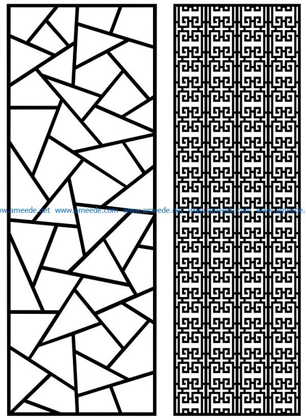 Design pattern panel screen AN00070865 file cdr and dxf free vector download for Laser cut CNC