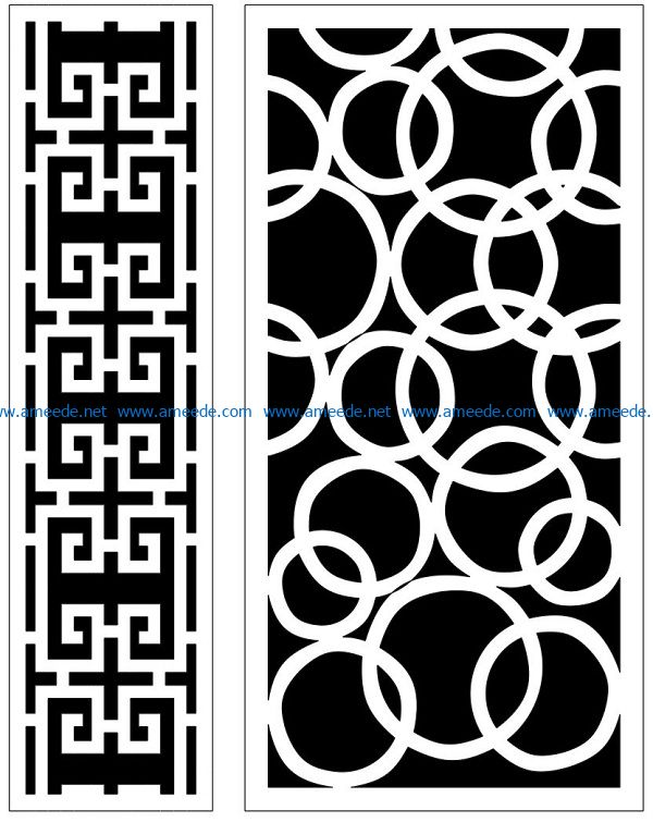Design pattern panel screen AN00070866 file cdr and dxf free vector download for Laser cut CNC