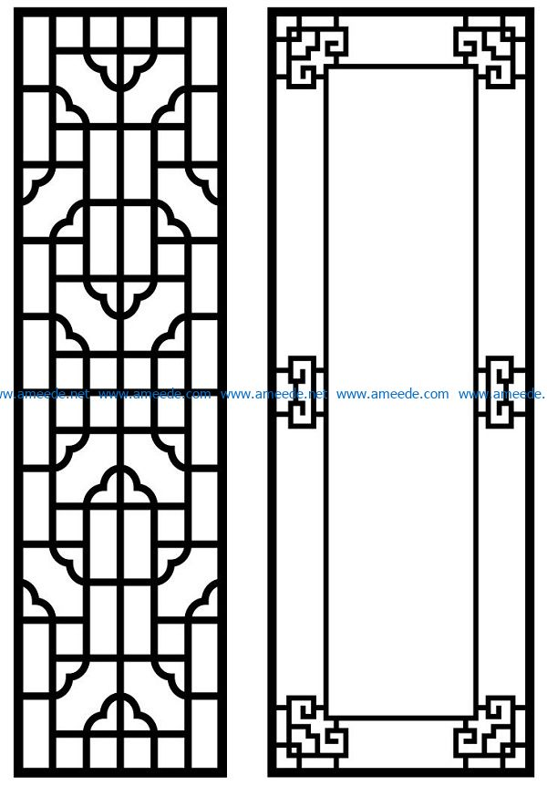 Design pattern panel screen AN00070867 file cdr and dxf free vector download for Laser cut CNC