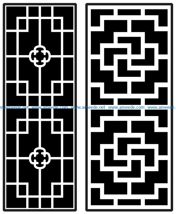 Design pattern panel screen AN00070868 file cdr and dxf free vector download for Laser cut CNC