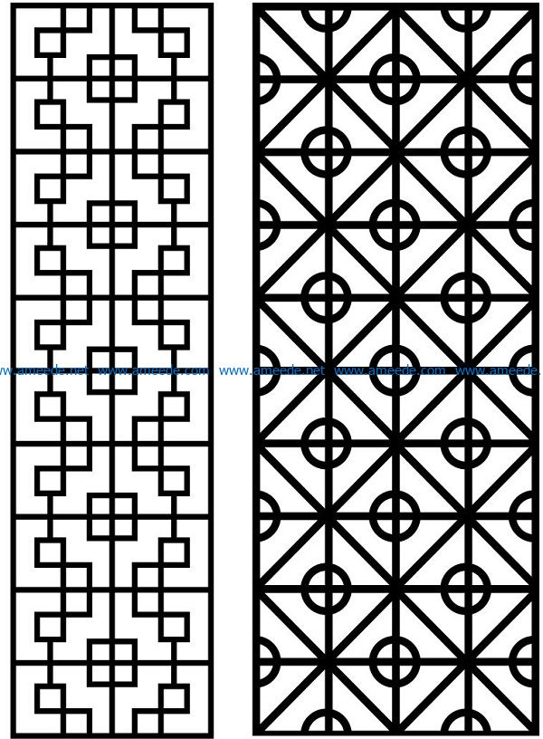 Design pattern panel screen AN00070870 file cdr and dxf free vector download for Laser cut CNC