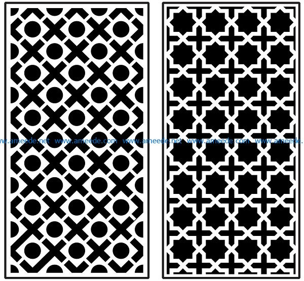 Design pattern panel screen AN00070871 file cdr and dxf free vector download for Laser cut CNC