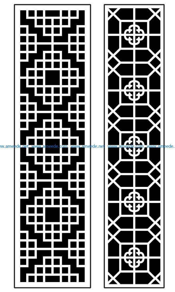 Design pattern panel screen AN00070875 file cdr and dxf free vector download for Laser cut CNC