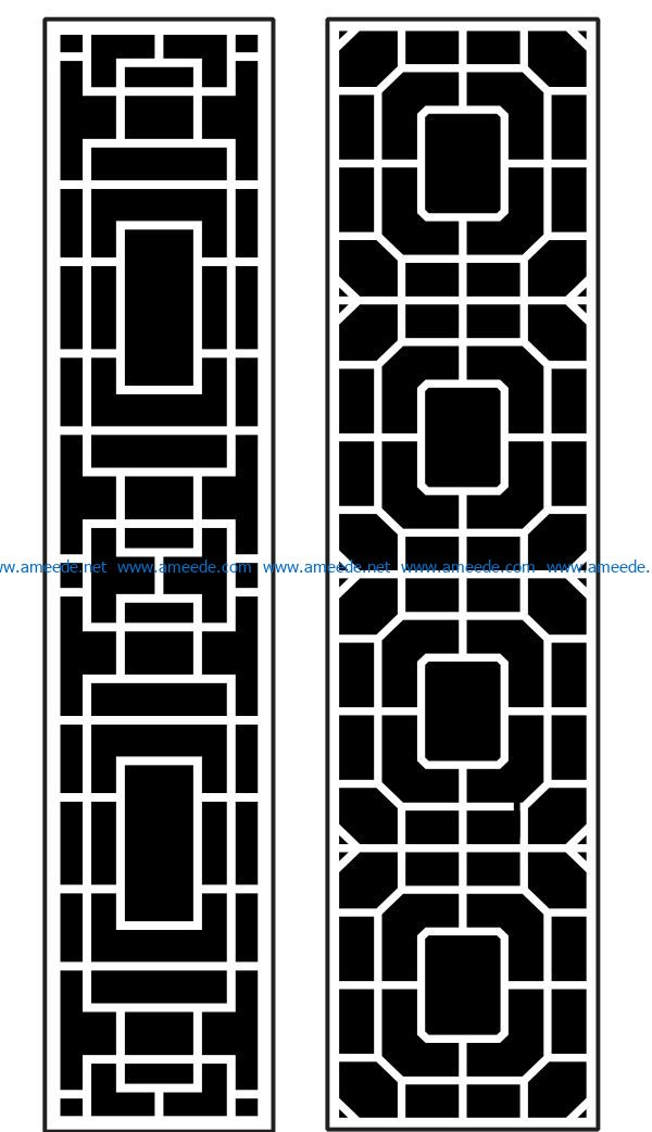 Design pattern panel screen AN00070876 file cdr and dxf free vector download for Laser cut CNC