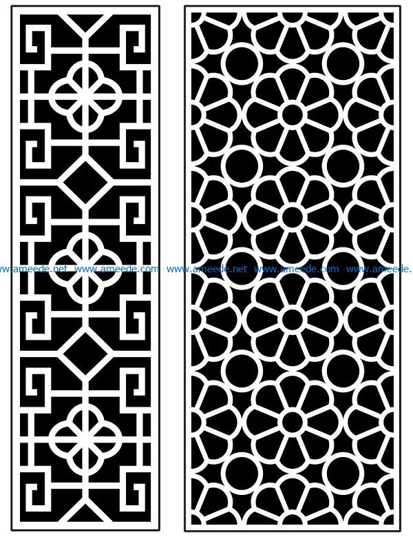 Design pattern panel screen AN00070877 file cdr and dxf free vector download for Laser cut CNC