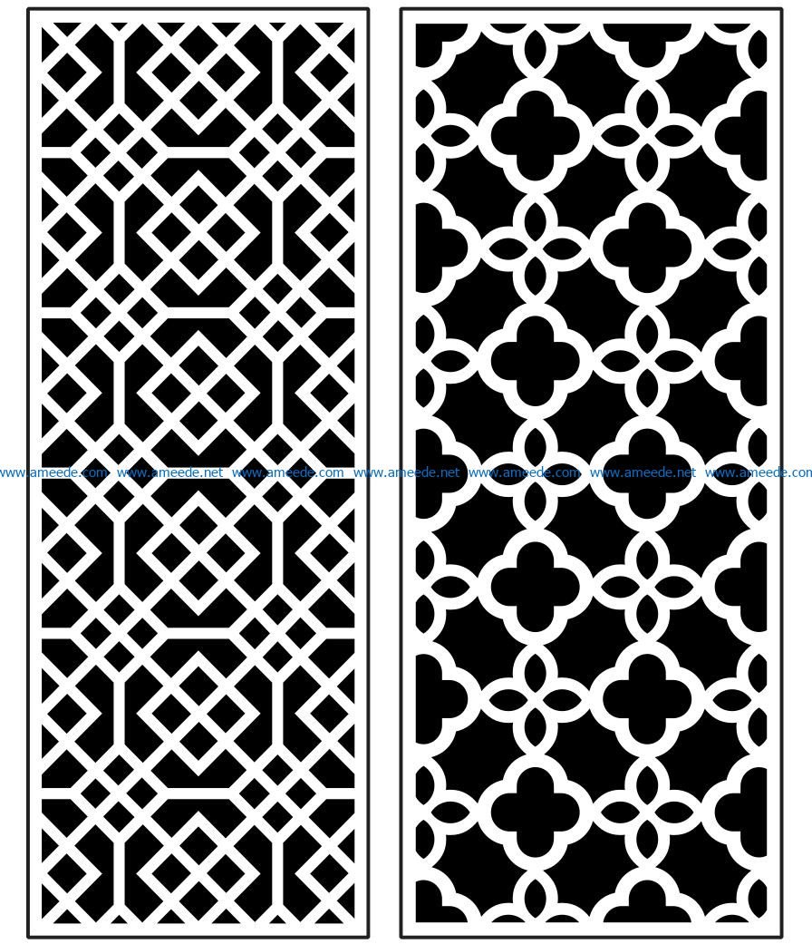 Design pattern panel screen AN00070879 file cdr and dxf free vector download for Laser cut CNC
