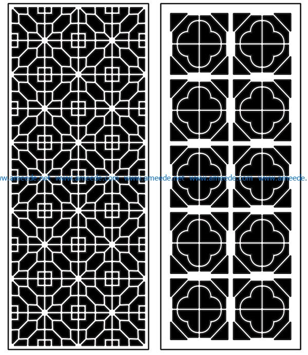 Design pattern panel screen AN00070880 file cdr and dxf free vector download for Laser cut CNC