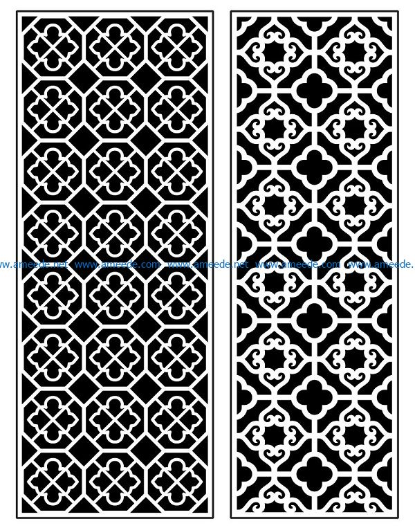 Design pattern panel screen AN00070881 file cdr and dxf free vector download for Laser cut CNC