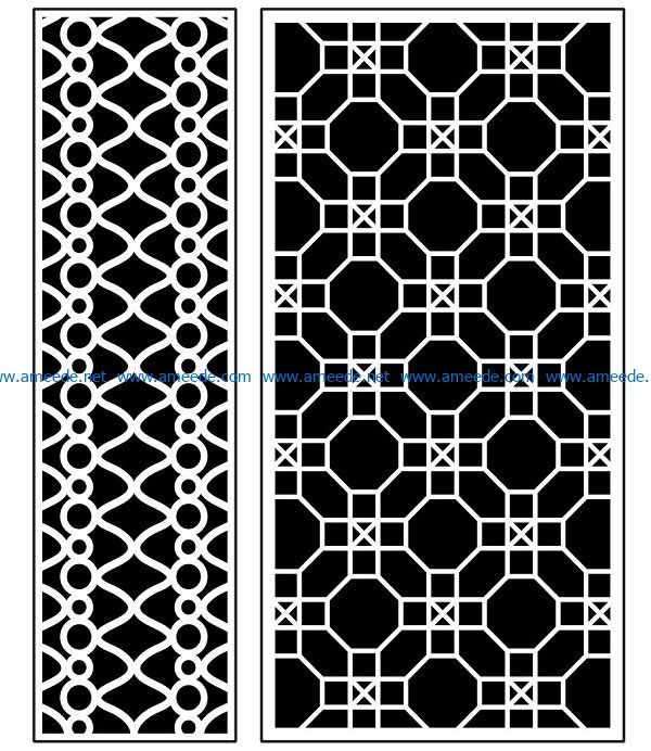 Design pattern panel screen AN00070882 file cdr and dxf free vector download for Laser cut CNC