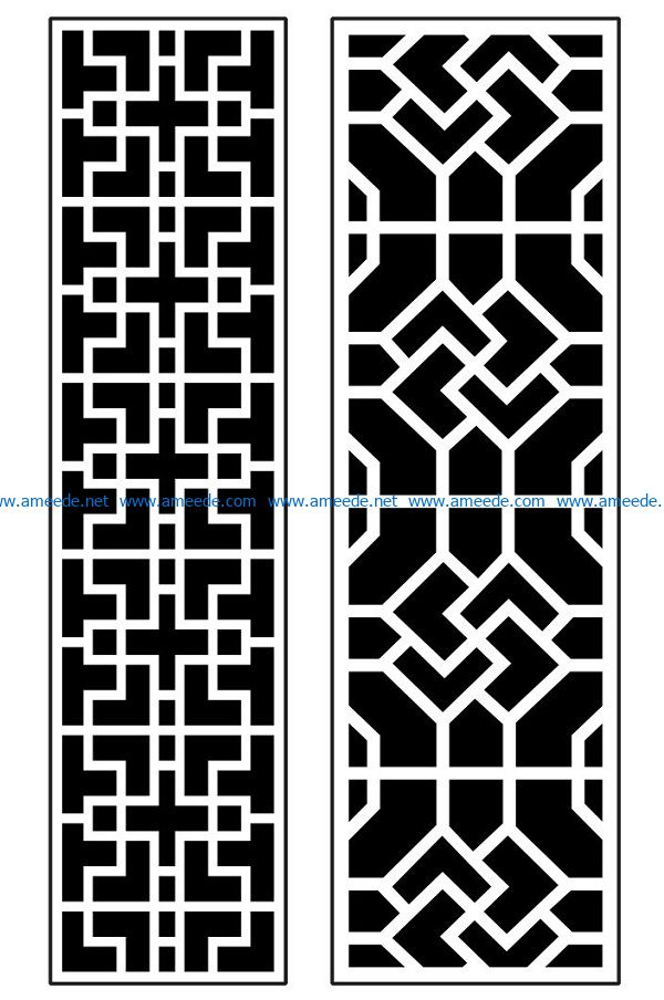 Design pattern panel screen AN00070885 file cdr and dxf free vector download for Laser cut CNC