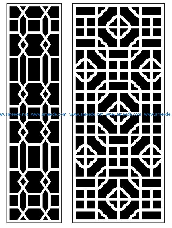 Design pattern panel screen AN00070886 file cdr and dxf free vector download for Laser cut CNC
