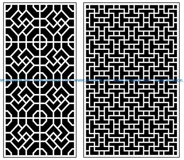 Design pattern panel screen AN00070887 file cdr and dxf free vector download for Laser cut CNC