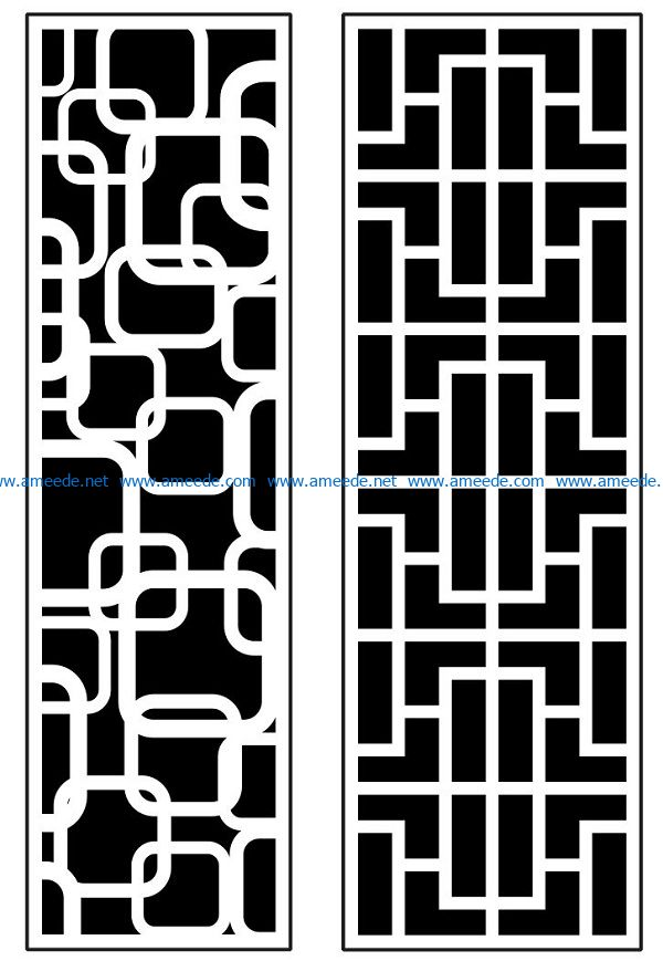 Design pattern panel screen AN00070888 file cdr and dxf free vector download for Laser cut CNC
