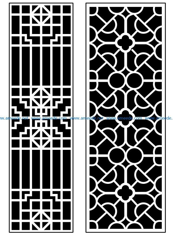 Design pattern panel screen AN00070889 file cdr and dxf free vector download for Laser cut CNC