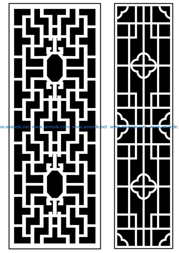 Design pattern panel screen AN00070891 file cdr and dxf free vector download for Laser cut CNC