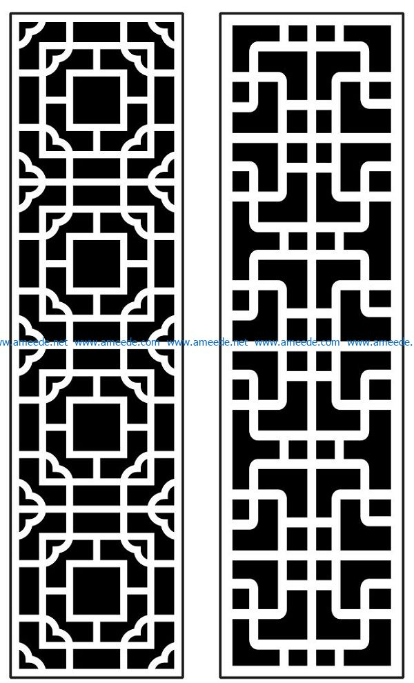 Design pattern panel screen AN00070892 file cdr and dxf free vector download for Laser cut CNC