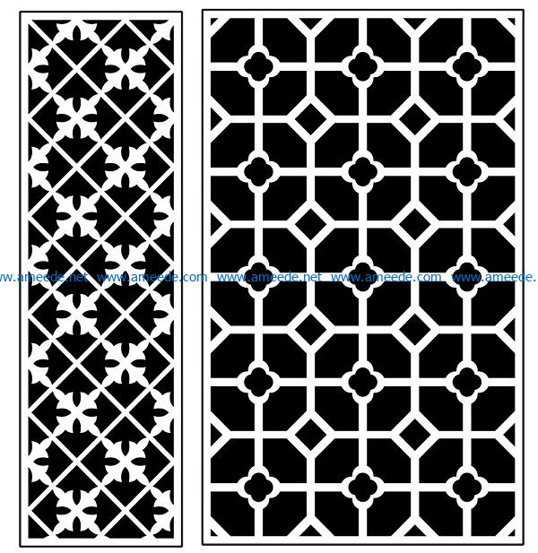 Design pattern panel screen AN00070893 file cdr and dxf free vector download for Laser cut CNC
